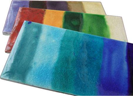 beautiful glazed colour swatches
