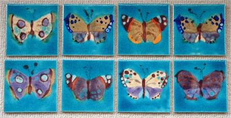 Butterfly tile panels
