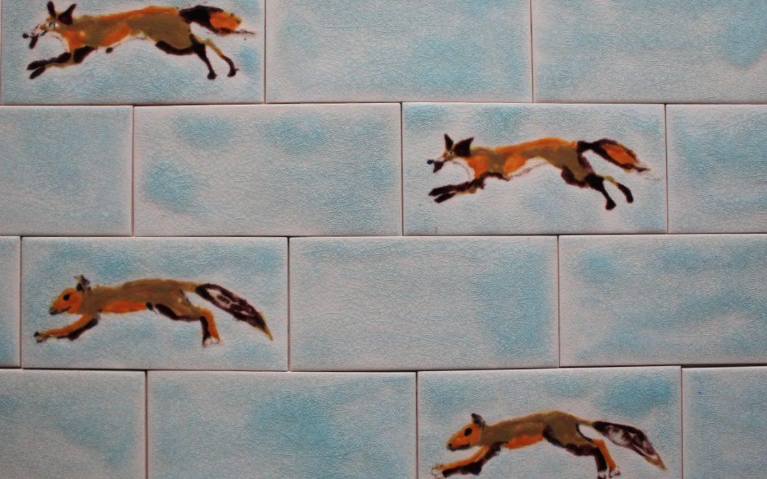 Custom made ceramic tile wall art …