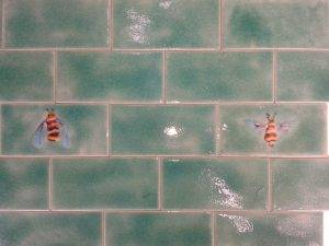 Betiles & Plain Celadon tiles 15x7.5cm
