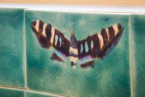 Gloucestershire Treehouse Hand painted Moth tile
