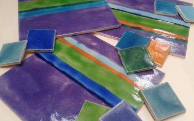 Our latest custom-made Stripe ceramic tiles !