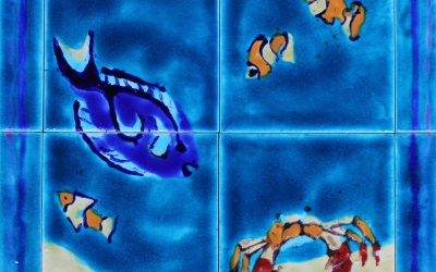 Hand made unique Tropical Fish tiles…