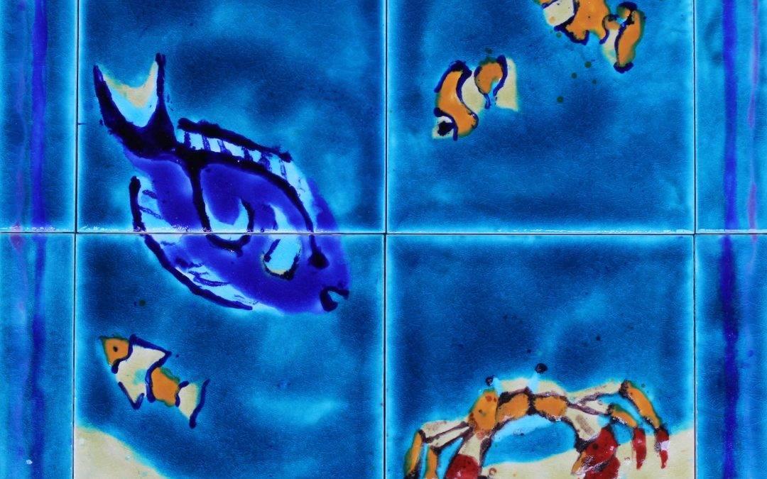 NEW ! 4 tile Tropical Fish splashback …