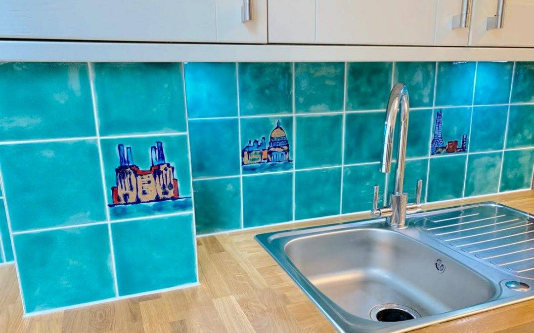 More custom made kitchen backsplash tiles …