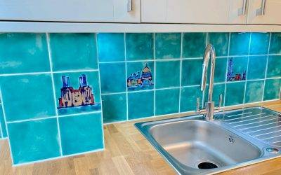 More custom made kitchen backsplash tiles …