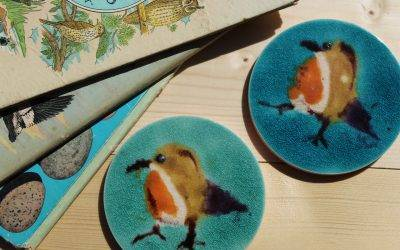 Looking for unique gifts ?- try our gorgeous Robin gift tile coasters !