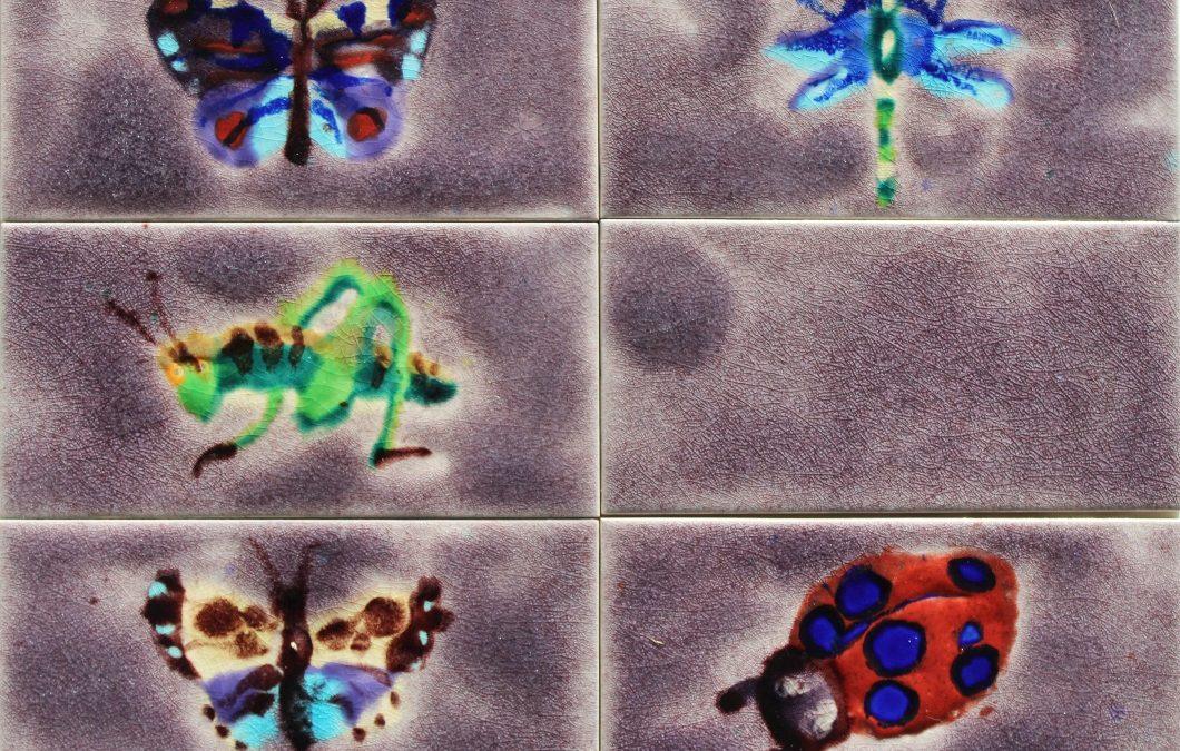 Our NEW Damson glaze with unique wildlife tile designs …