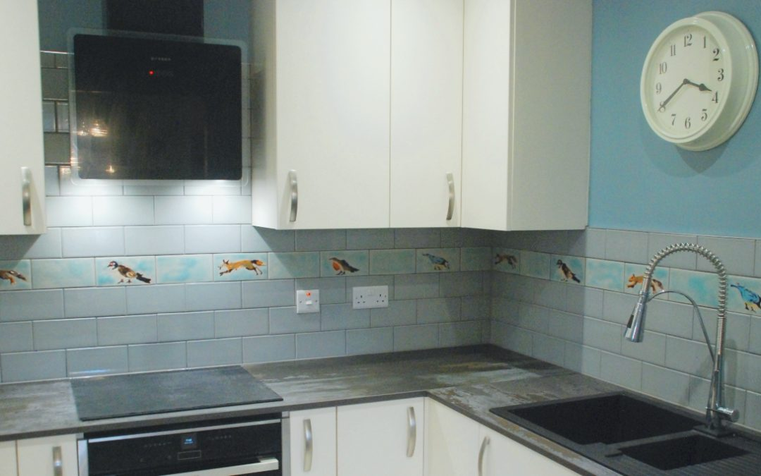Custom made kitchen decorative tiles … the perfect splashback !