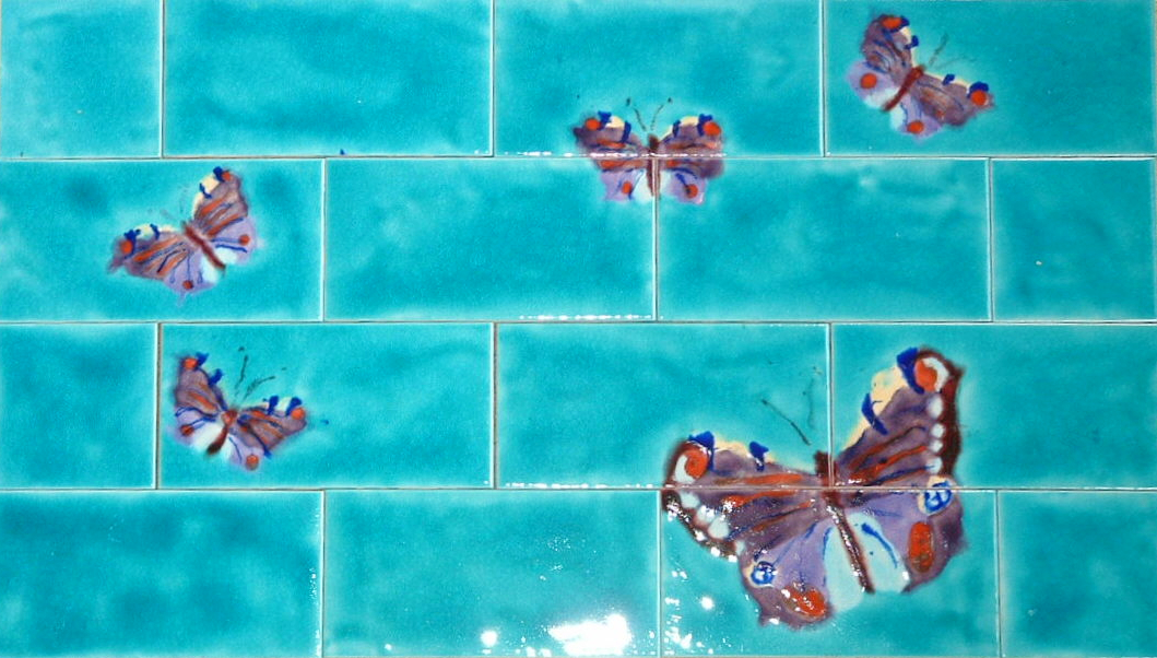 Use our hand painted decorative art tiles for any size of backsplash !