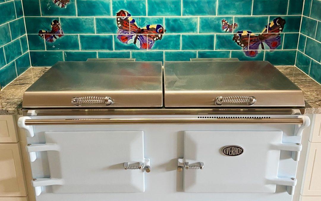 Butterflies galore … stunning wall art tile splashback