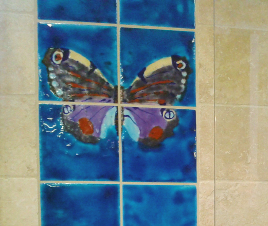 Decorative , artisan bathroom tiles … all hand made in the UK !