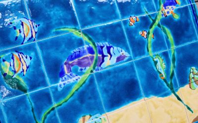 Latest custom made Tropical Fish tile mural !